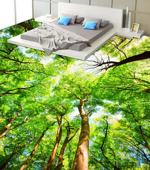 3D Grün Forest Tree Floor WallPaper Murals Wall Print Decal 5D AJ WALLPAPER