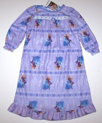 Gown Disney Frozen Elsa Winter Snowflakes Flannel Granny Nightgown
