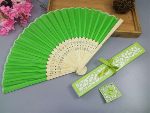 Gift Box Dance Party Wedding Gifts L S* Chinese Style Silk Fold Hand Held Fan