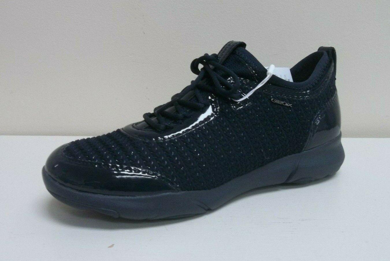 Geox Nebula Azul Marino Textil Zapatillas patente,  RRP  BNWB