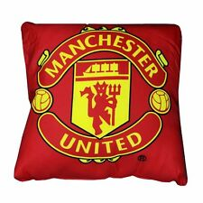 Manchester United Crest Cushion - Red 37x 37cm Microfibre With Big Club Logo
