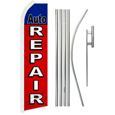 Auto Repair Swooper Advertising Feather Flutter Flag Pole Kit Mechanic Services