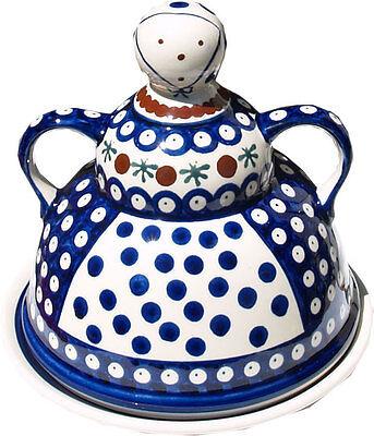 Polish Pottery Cheese Lady From Zaklady Ceramiczne Boleslawiec GU847//41