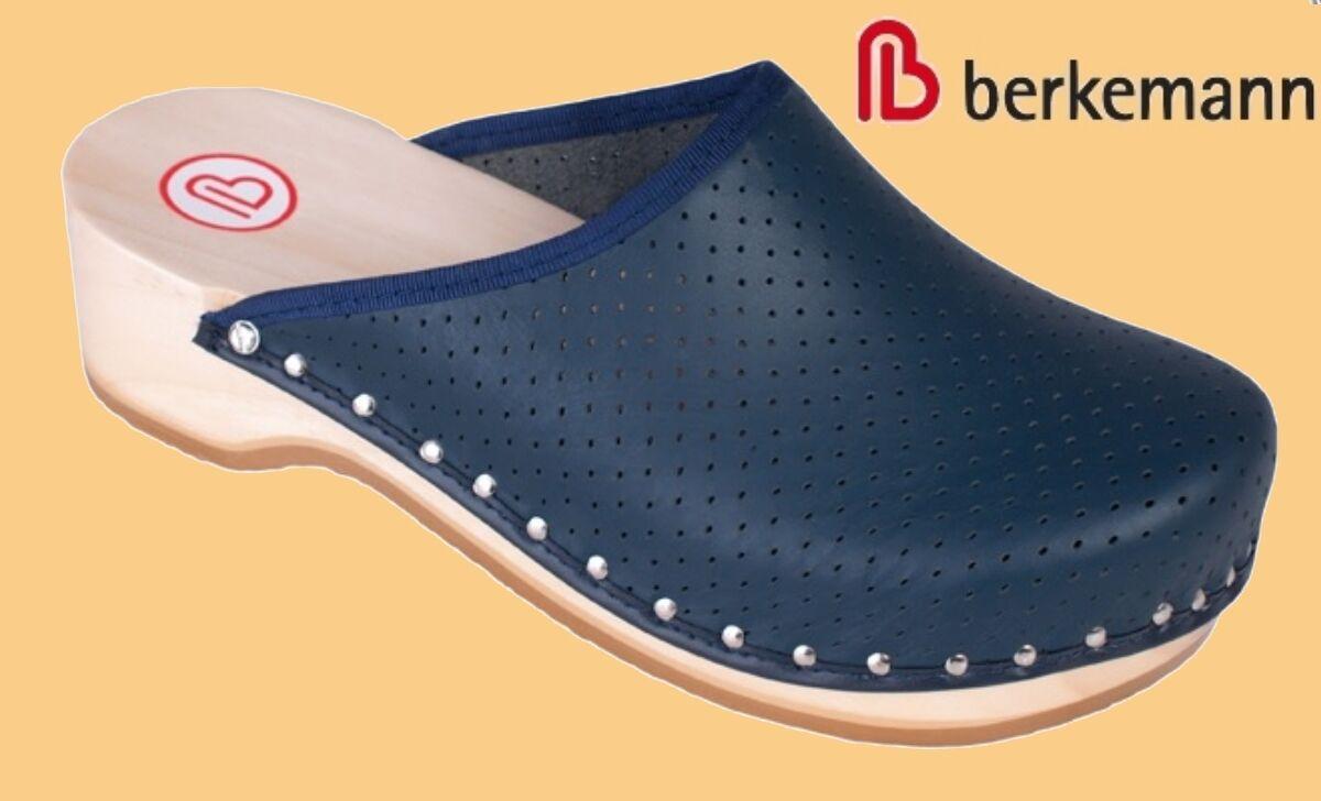 Berkemann Holz Clogs Toeffler Hausschuhe Pantoffeln Damen Herren Leder 2,5 2,5 2,5 - 13  | Gute Qualität  cba2ee