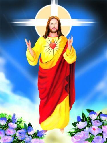 "Jesus Christ Art Silk Fabric Poster 32/"" x 24/""  J002"