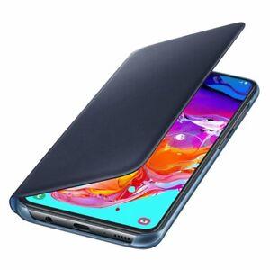 Original-Samsung-Flip-Wallet-Case-Cover-EF-WA705-Galaxy-A70-Schwarz-Black