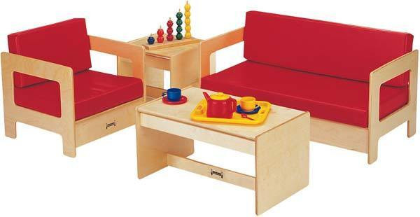 Jonti-craft Living Room Set - 4 Piece Red