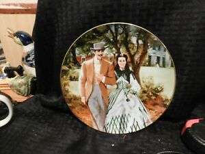 Plate-Collector-W-L-George-1989-034-Home-to-Tara-034-Gone-With-The-Wind-8-5-034-VINTAGE