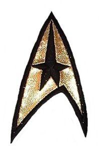 "Star Trek Original Series COMMAND Uniform Logo 3/""  Embroidered  GOLD FOIL PATCH"