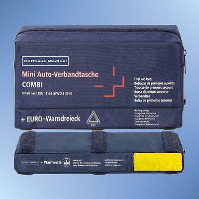 Verbandtasche Auto Mini 3 In 1 Inhalt Nach Din 13164 Blau 62220 Inkl Weste Gelb Auto-anbau- & -zubehörteile
