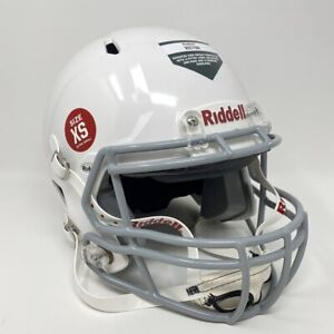 NWT-RIDDELL-VICTOR-Youth-XS-Football-Helmet-2019-White-Gray-Tackle-Chinstrap