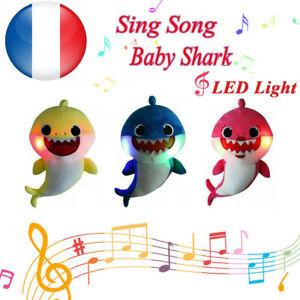 2019-Peluche-Bebe-Requin-Chantant-Shark-Chante-Musique-Jouet-Sonore-Musique-FR