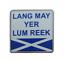 縮圖 1 - 'Lang May Yer Lum Reek' Scots Slang Saltire Pin Badge