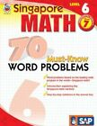 Singapore Math 70 Must-know Word Problems Level 6 Grade 7 by Frank Schaffer Pub