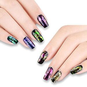 Image Is Loading Chameleon Nail Flakes Nails Powder Glitter Chrome 6