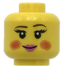 Lego minifigure head happy//scared female Duel sided