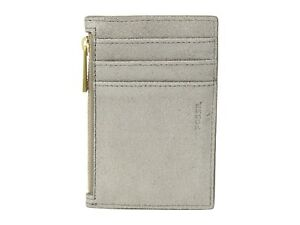 New-Women-039-s-Fossil-Shelby-Champagne-Zip-Coin-Card-Pocket-Wallet-Metallic-Leather