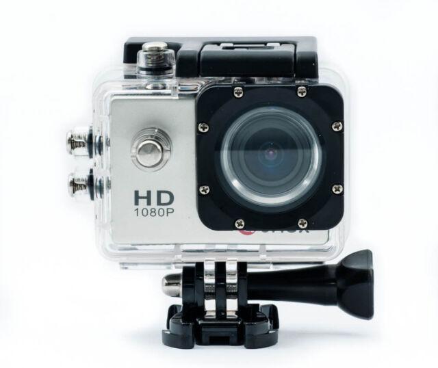 QUMOX SJ4000 Silver Action Sport Kamera Cam Waterproof Full HD 1080p Helmkamera