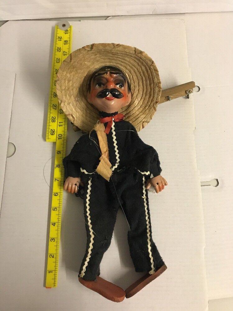 Antique Vintage Marionette Puppet   attic find   Lot 1