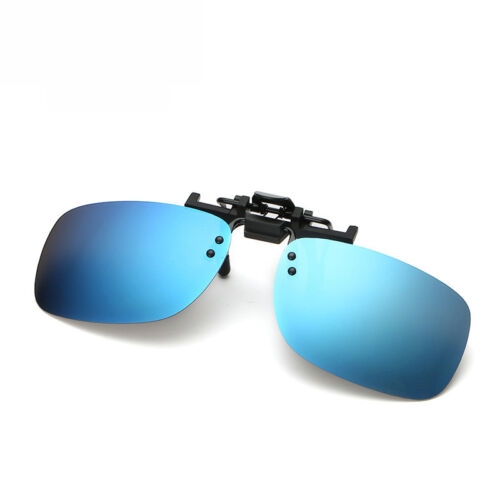 Polarized Clip On Flip Up Sunglasses Shades Clip for Myopia Glasses Outdoor Mens