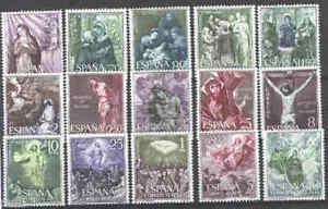 EDIFIL-N-1463-77-MISTERIOS-SANTO-ROSARIO-NUEVOS-ANO-1962-SPAGNE