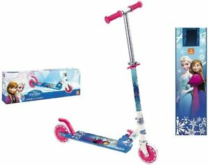 Trotinette Reine des neige Disney Patinette Aluminium  Enfant Bleu et Fuchsia