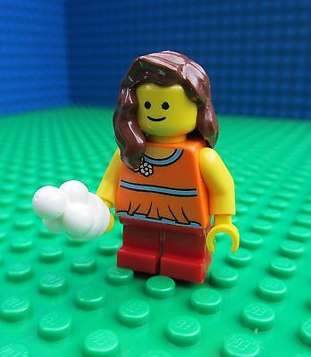 Lego Girl with Ice Cream minifig minifigure city town lady female