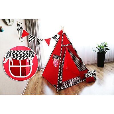 Tipi Teepee Spielzelt Indianerzelt für Kinder mit 3 Kissen + GRATIS ! 14 MUSTERN