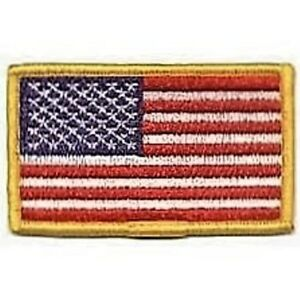 U-S-Flag-Patches-Gold-trimmed-Right-or-Left-facing