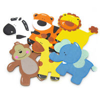 Safari Animal Rubber Ducky Wooden Baby Favors, 10-piece