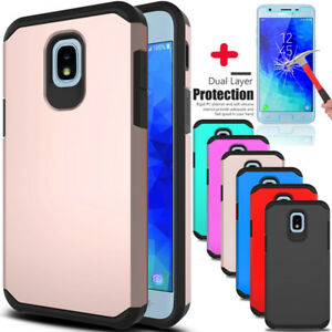 For-Samsung-Galaxy-J3-V-2018-Star-Orbit-Achieve-Case-Cover-With-Screen-Protector