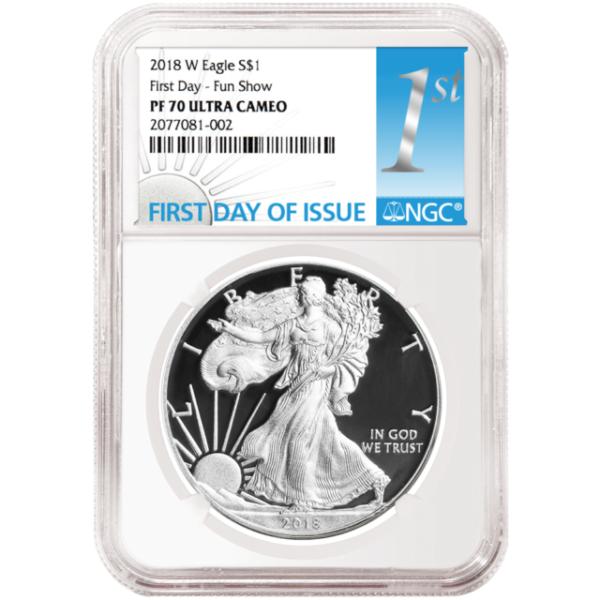 2018-W 1//10 oz Gold American Eagle Proof $5 NGC PF69 UC FDI Black SKU53207