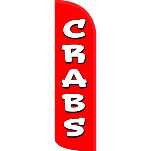 CRABS Windless-Style Feather Flag Bundle 14/' OR Replacement Flag Only 11.5/'