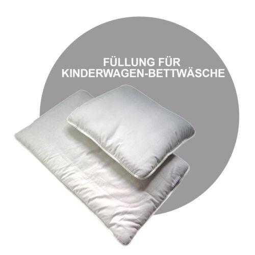 NEU Decke Set Kinderwagen Bettwäsche NUR FÜLLUNG 70 x 50 cm Kissen 2 tlg
