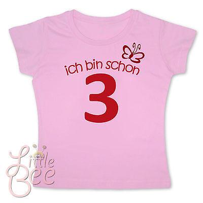 Kraftvoll Girl Geburtstagsshirt * Ich Bin Schon 3 * Wahl: Motiv, Wunschname, Größe, Farbe RegelmäßIges TeegeträNk Verbessert Ihre Gesundheit