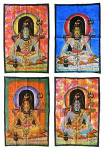 SHIVA-Batiktuch-Wandbehang-Stofftuch-Indien-75x105-cm-Hinduismus-Goa-Schiwa-Siva