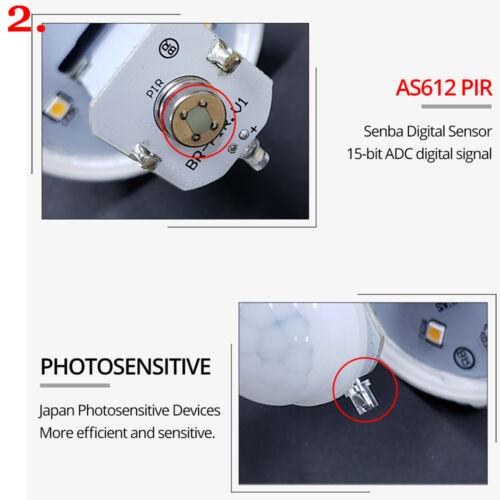 E27 Motion Sensor Bulb Light Smart PIR LED Automatic Bulb 12W 18W Indoor Outdoor