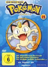 DIE WELT DER POKEMON 15   1. Staffel / 43-45    DVD #ZZ   Pokémon