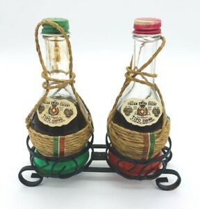 Vintage Italian Swiss Colony Salt and Pepper Shakers Red and Green