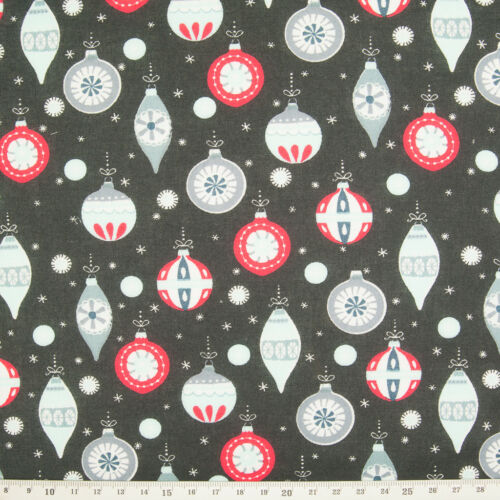 100/% Cotton Christmas Fabric Material Reindeer Star Santa Snowflake Fat Quarter