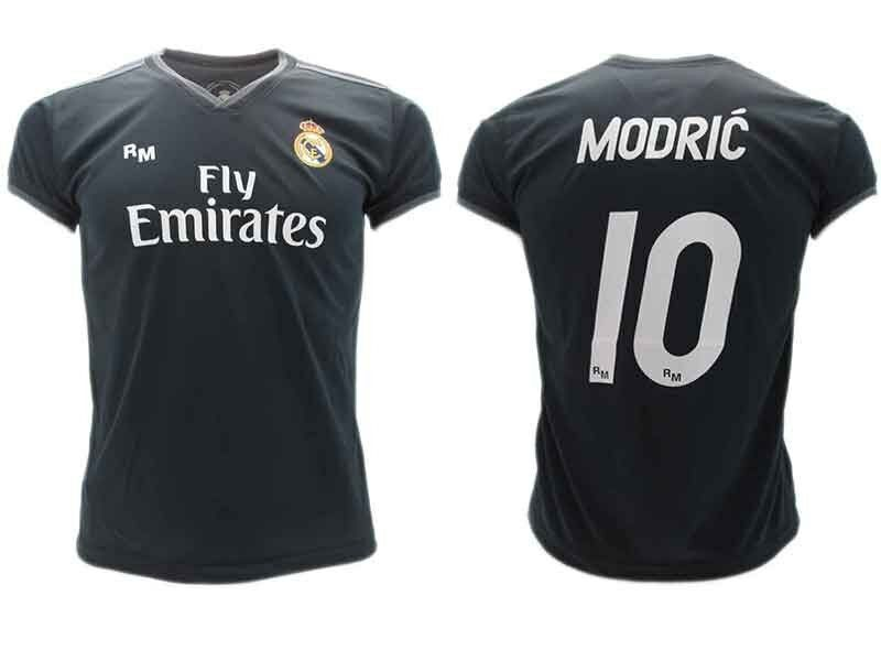 Trikot Modric Real Madrid Offizielle 18 2019 Luka 10 Weg Schwarz Erwachsene Kind