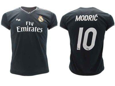 new styles fb535 60aeb Shirt Modric Real Madrid Official 2018 2019 Luka 10 Away Black Adult Child    eBay