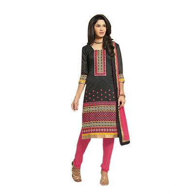 Beautiful indian nice chudidar chanderi  Dress material  1664