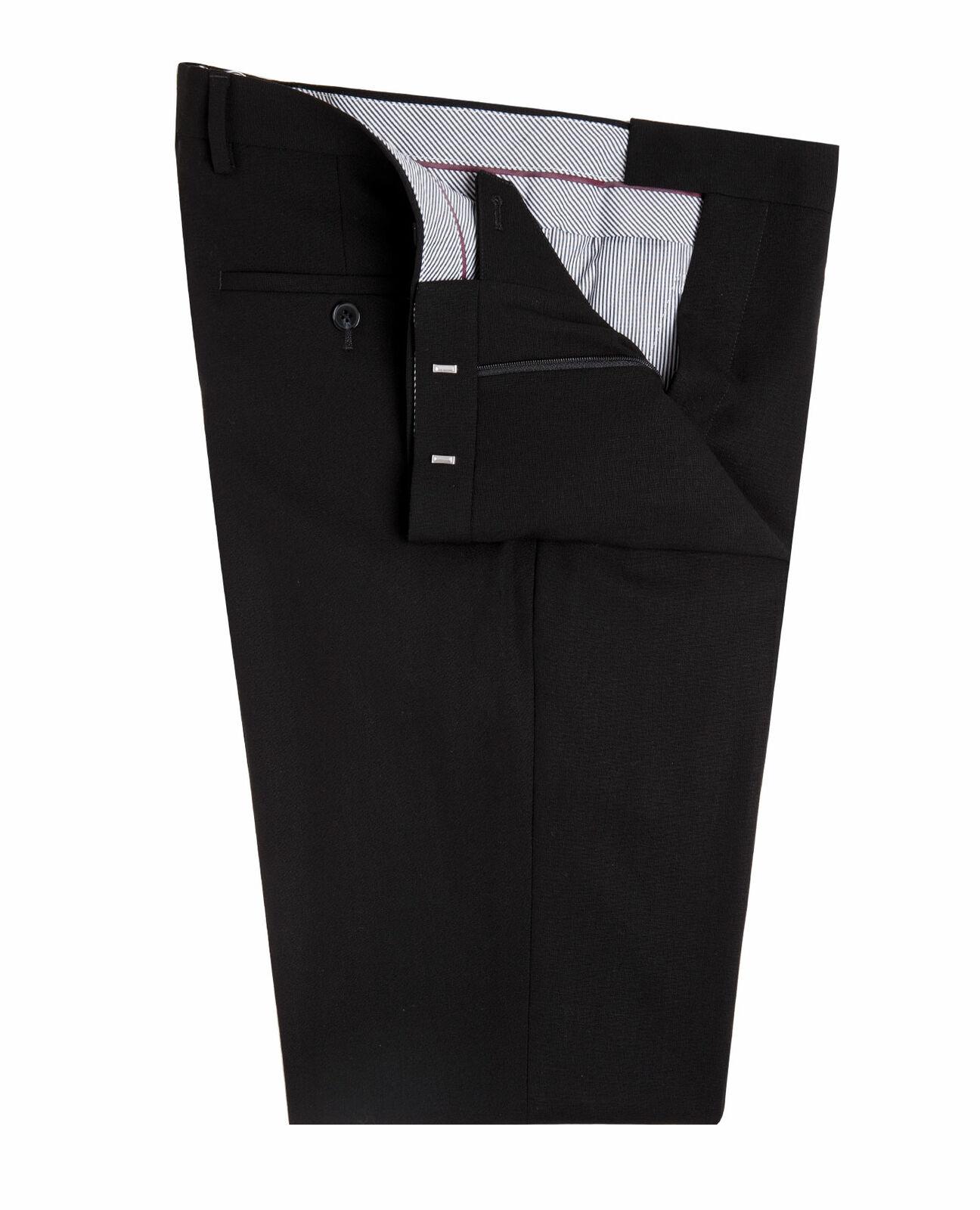 Pants Bishopsgate Black Regular Fit Infinity T.M.Lewin Men/'s Suit Trousers