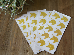 Set-of-50-Unicorn-Stickers-Gold-Unicorn-Stickers-Gold-Glitter-unicorn-decal