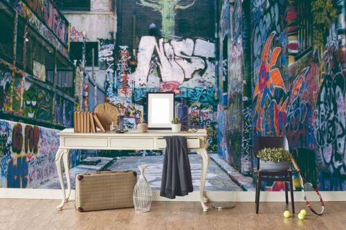 3D Graffiti Factory Self-adhesive Removable Wallpaper Murals Wall Sticker FC