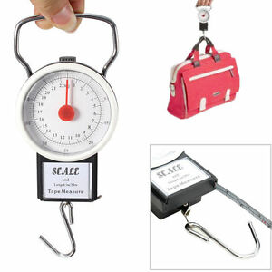 Portable-Luggage-Travel-Scale-Hanging-Suitcase-Hook-75-lb-w-Measuring-Tape
