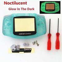 Gba Nintendo Game Boy Advance Replacement Housing Shell Screen Glow In The Dark