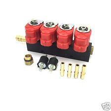 Valtek Rail Injektor Einspritzleiste LPG Autogas Typ 30 3 Ohm für 4 Zylinder