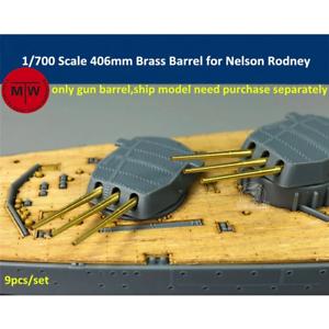 TMW 1/700 406 mm Laiton baril pour HMS RODNEY/HMS Nelson Tamiya/trompette Kits (9p